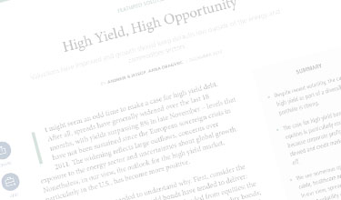 high yield opportunity